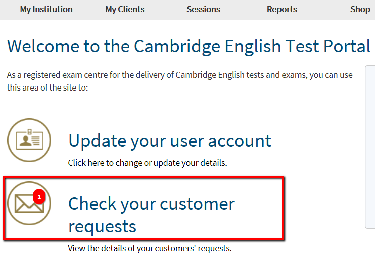 Cambridge English Placement Test (CEPT) - Managing Client Orders