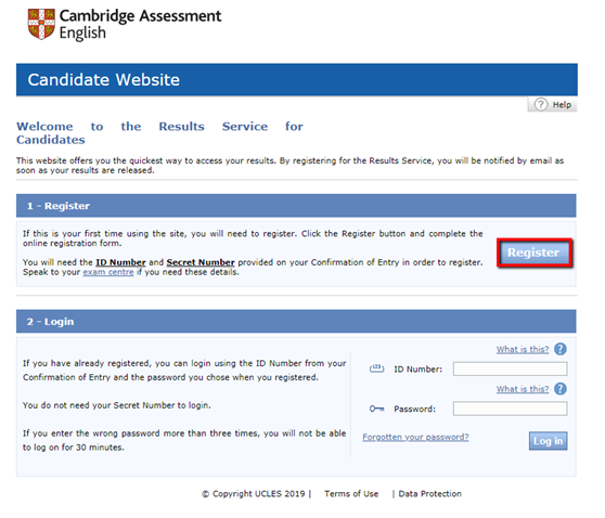 Viewing your exam result online – Cambridge English Support Site